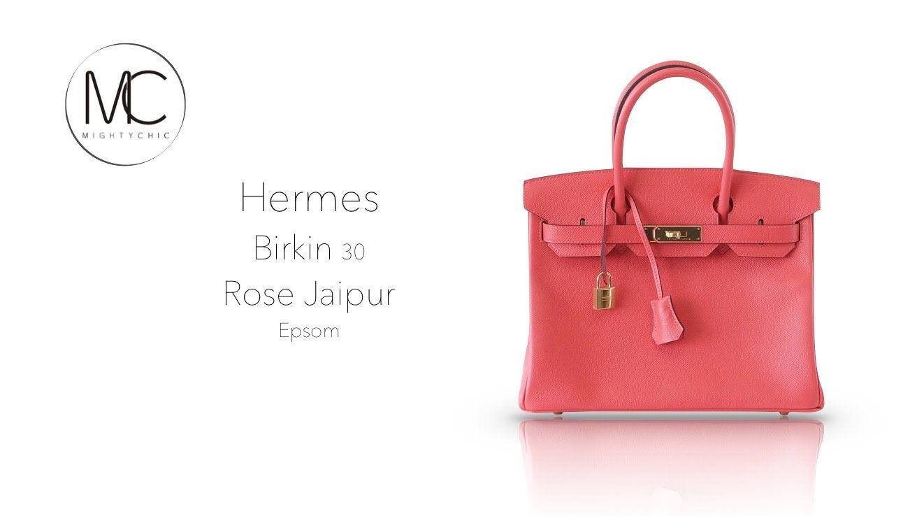 34f0b3fe5647 Hermes Birkin 30 Rose Jaipur Epsom GHW • MIGHTYCHIC •