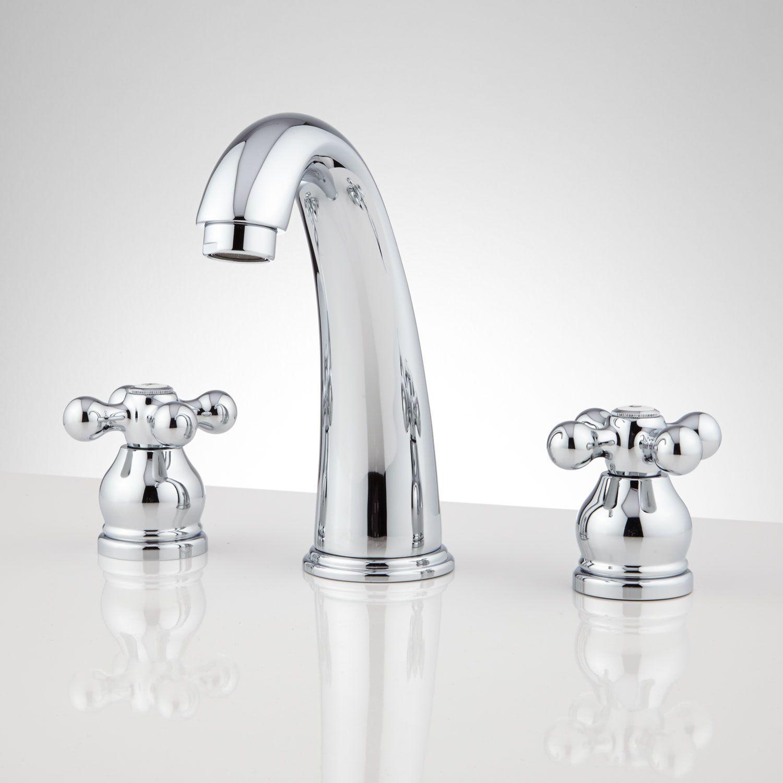Norton Widespread Bathroom Faucet with Drain - No Overflow - Cross ...
