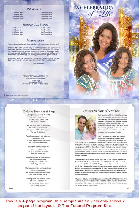 Free Funeral Program Templates  Free Printable Funeral Program
