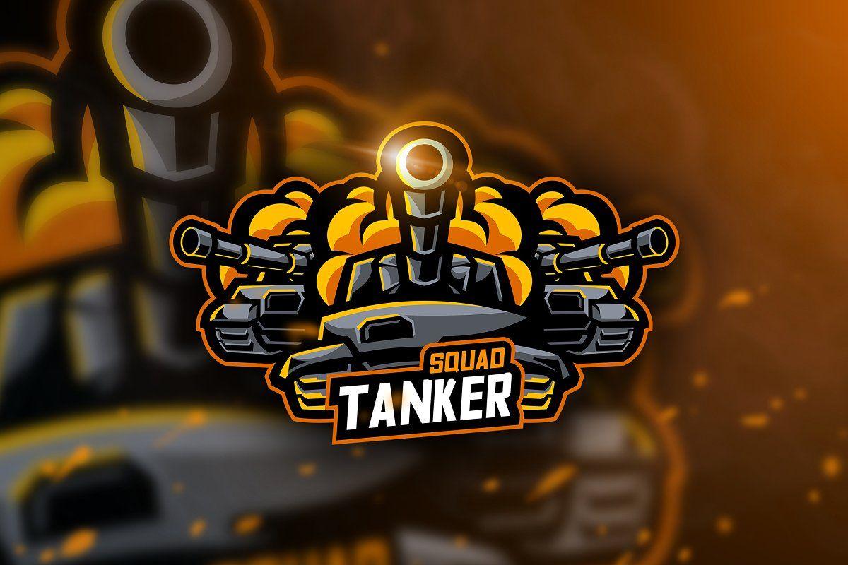 Tanker Squad Mascot Esport Logo Sports Logo Inspiration Mascot Cool Logo