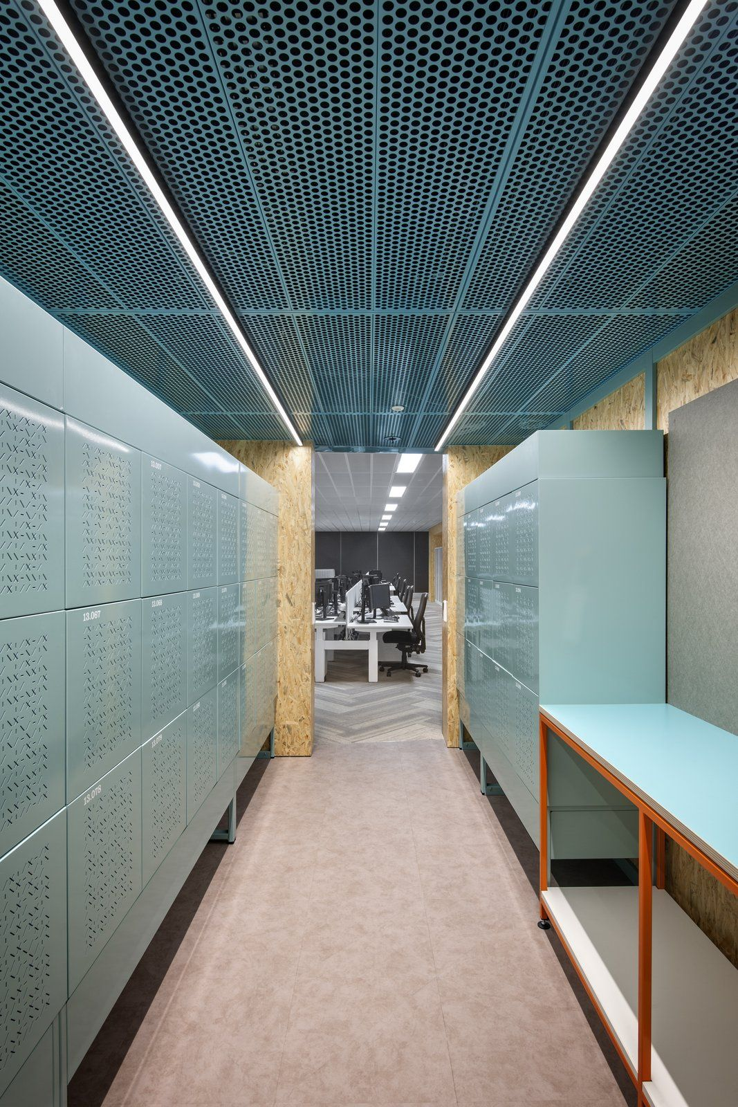 Office tour people s choice credit union offices for Office ceiling design