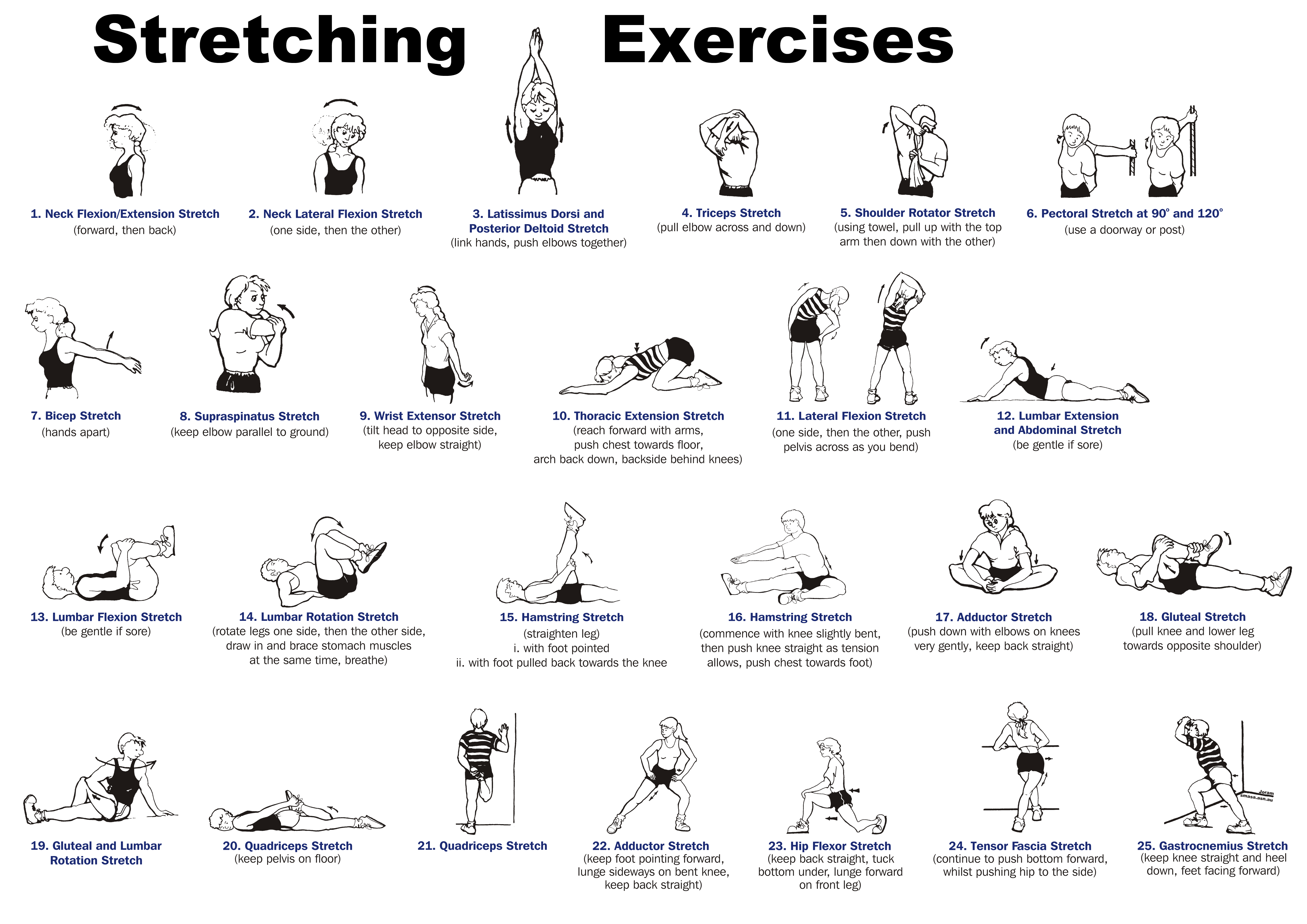 Stretching Exercises With Helpful Illustrations