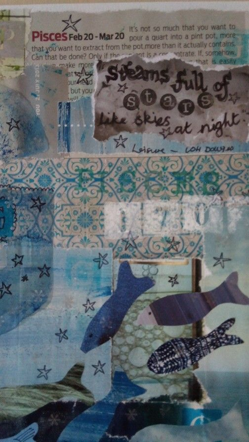 Detail of pisces card..