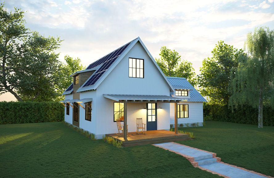 new net zero solar farmhouse from deltec generates all its own energy - Zero Energy Home Design
