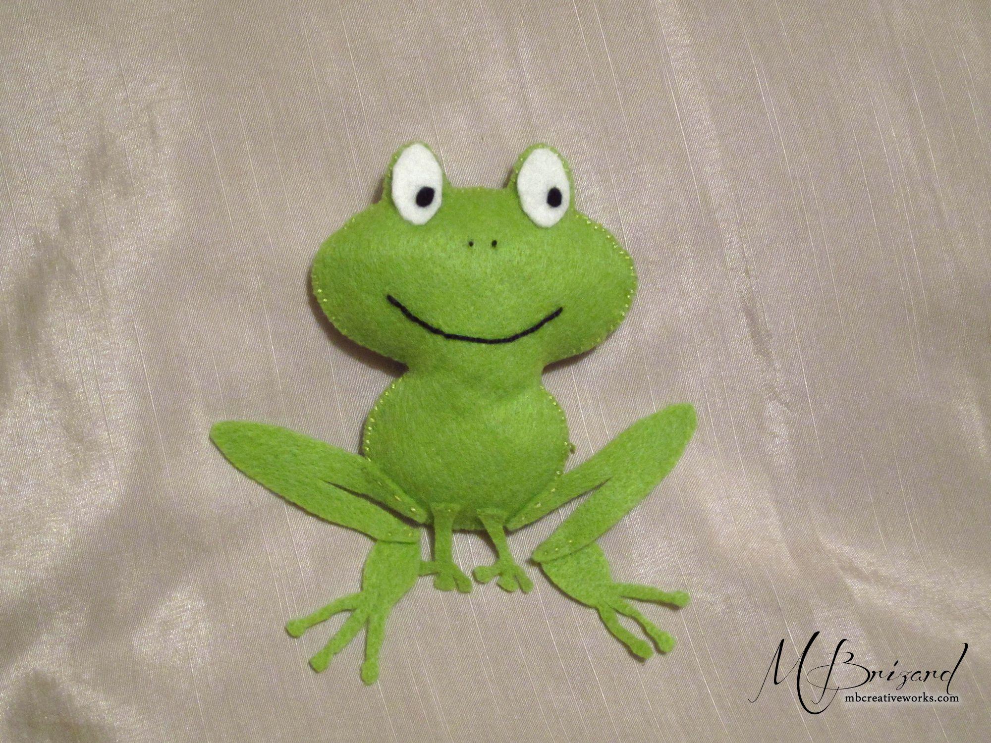 Cute Felt Frog with pattern | kids things | Felt, Felt ... - photo#28