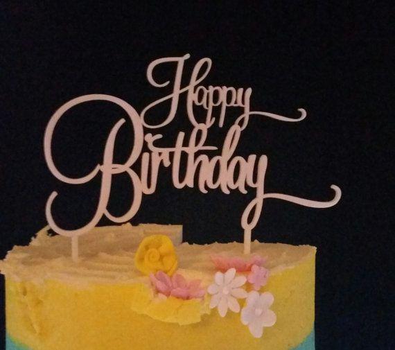 Happy Birthday Cake Topper by BlingTopiaAustralia on Etsy