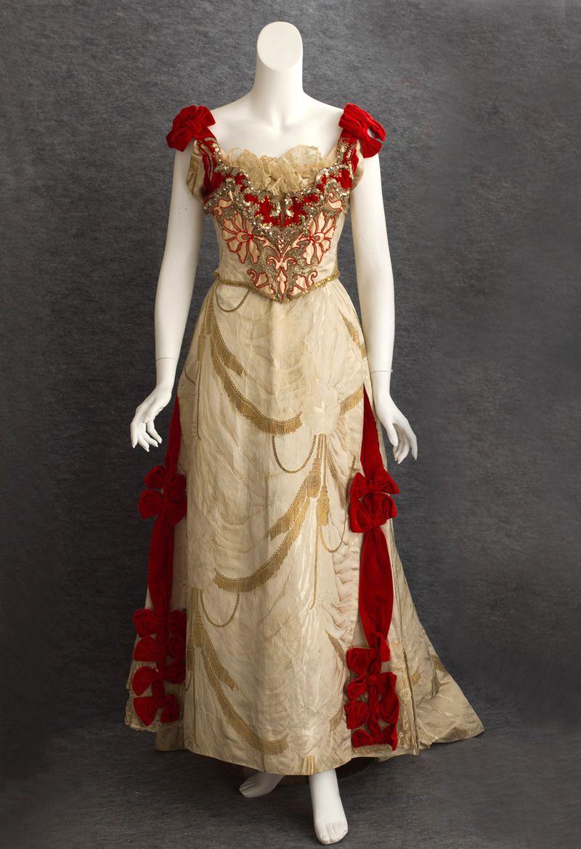 Ball gown catherine donovan ca silk brocade satin damask
