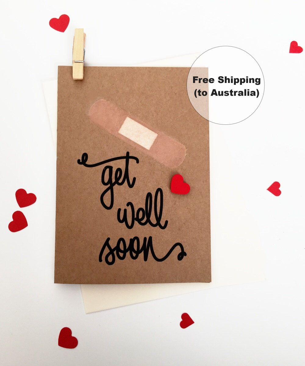 Get Well Soon Greeting Card Heart Get Well Soon Greeting Card