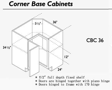 Standard Kitchen Corner Base Cabinet Sizes | www.looksisquare.com