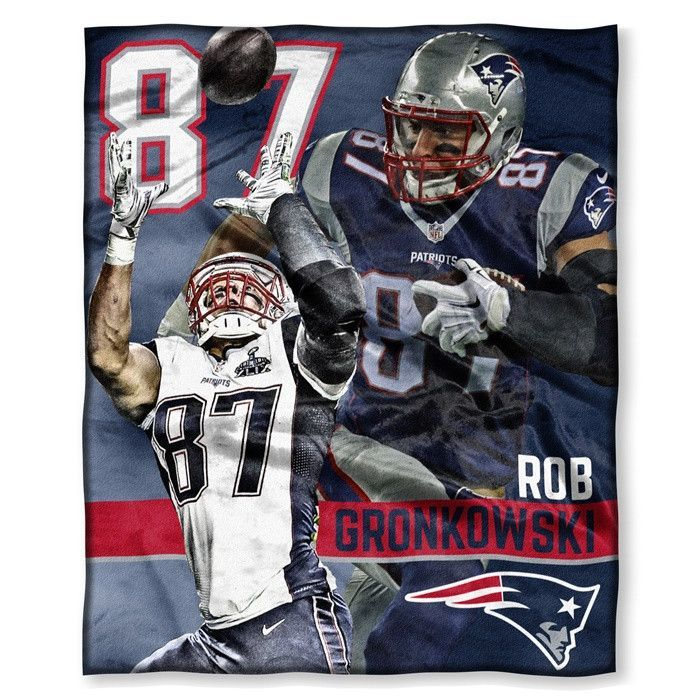 Multi Color Officially Licensed NFL Players HD Silk Touch Throw Blanket 50 x 60