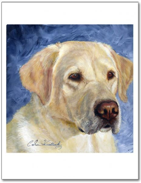 Artwork Painting Of A Yellow Lab Dog Entitled Trust By Caron