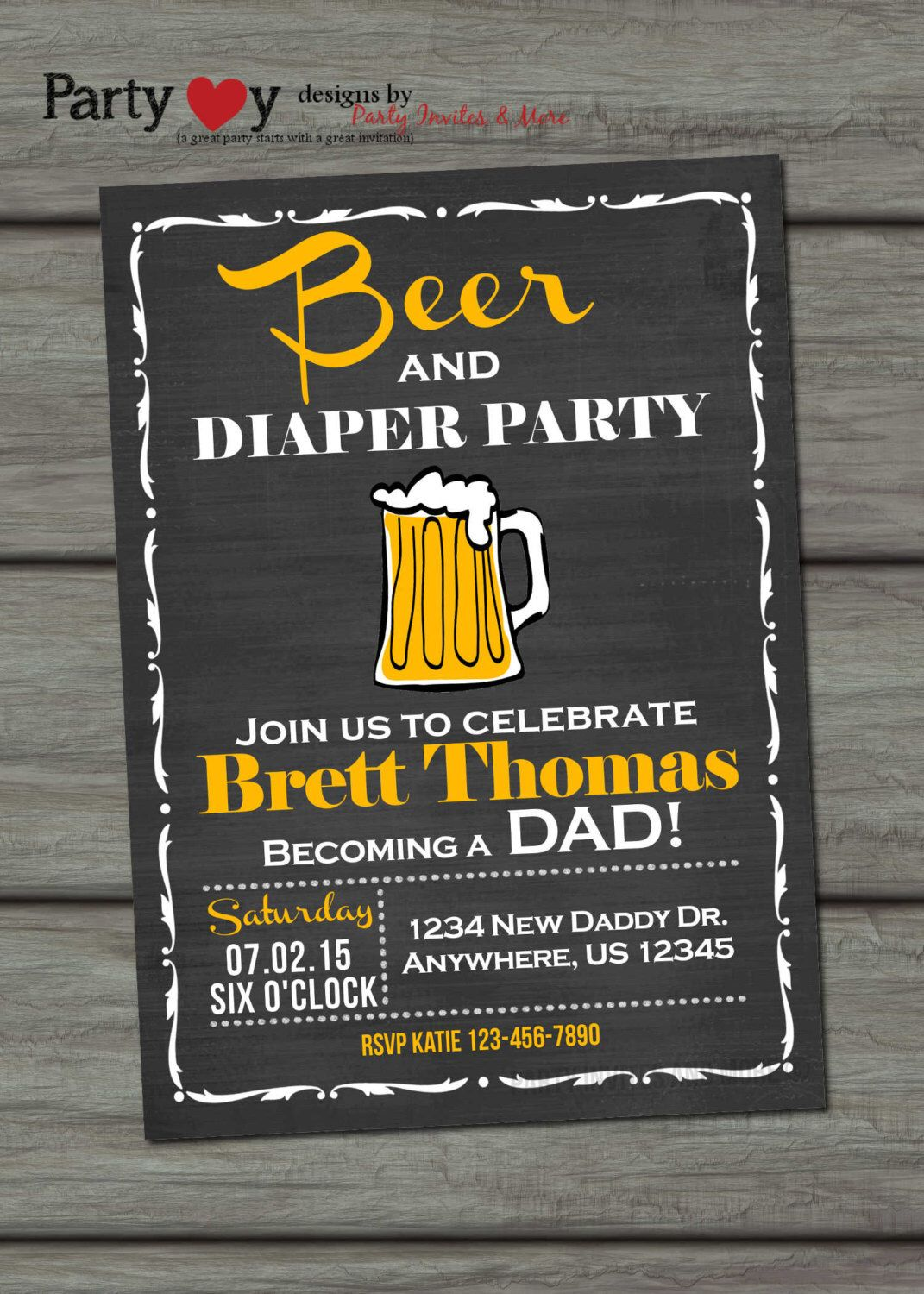 Beer And Diaper Party Invitation Beer And Diaper Baby Shower Dad Baby Shower Party Invite Template Chalkboard Baby Shower Invitation Diaper Party Invitations
