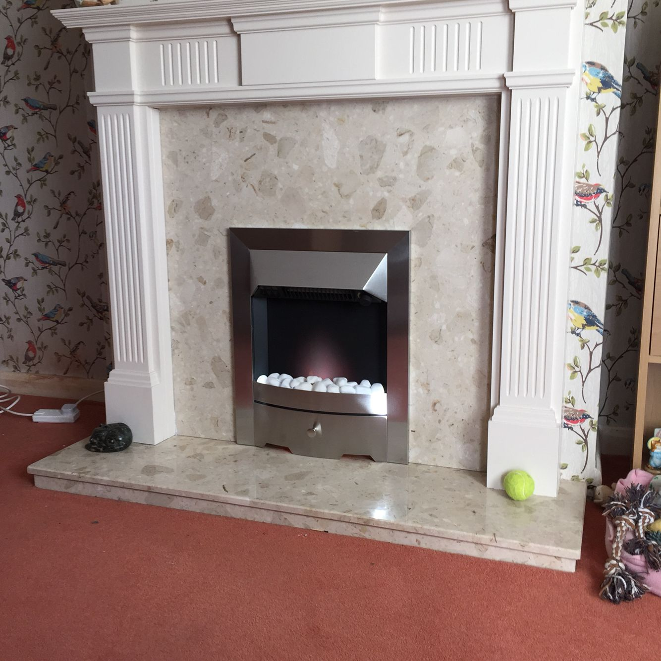 Electric fire fitted too existing fireplace  #WWW.FIREPLACEFITTERSWESTYORKSHIRE.CO.UK