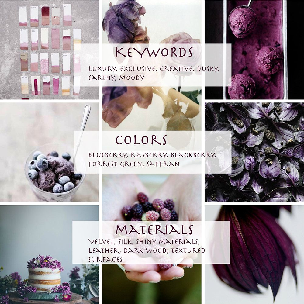 My color trends 201516 for Global Color Research DUSKY BERRY