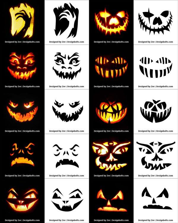 290+ Free Printable Halloween Pumpkin Carving Stencils, Patterns, Designs, Faces & Ideas #pumpkincarvingideastemplatesfree...