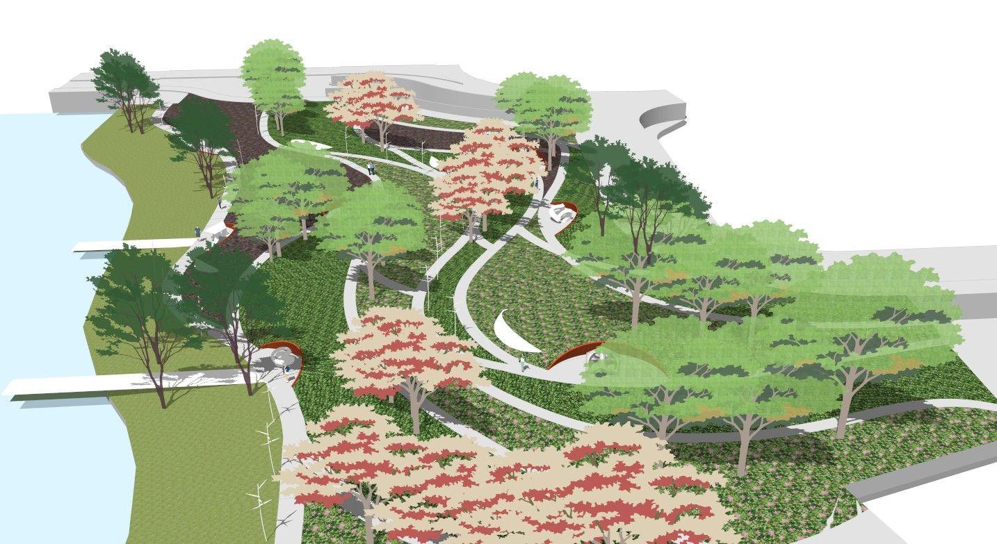 Landscape Design Perspective University Park Modern Landscape Step Landscape Design Curving Landscape Lands Landscape Design Modern Landscaping Landscape