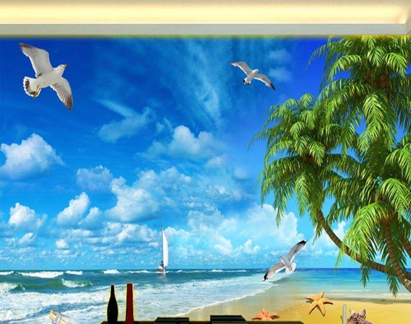 Terbaru 30 Lukisan Dinding Pemandangan Laut Us 8 17 45 Off Custom 3d Photo Wallpaper Wall Painting Sea View Mediterranean S Di 2020 Pemandangan Lukisan Dinding Mural