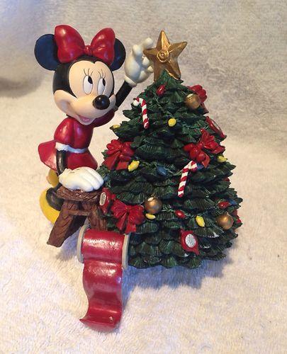 Disneys Minnie Mouse Stocking Hanger Decorations Christmas Tree Ceramic Ebay Christmas Decorations Minnie Christmas Disney Decor
