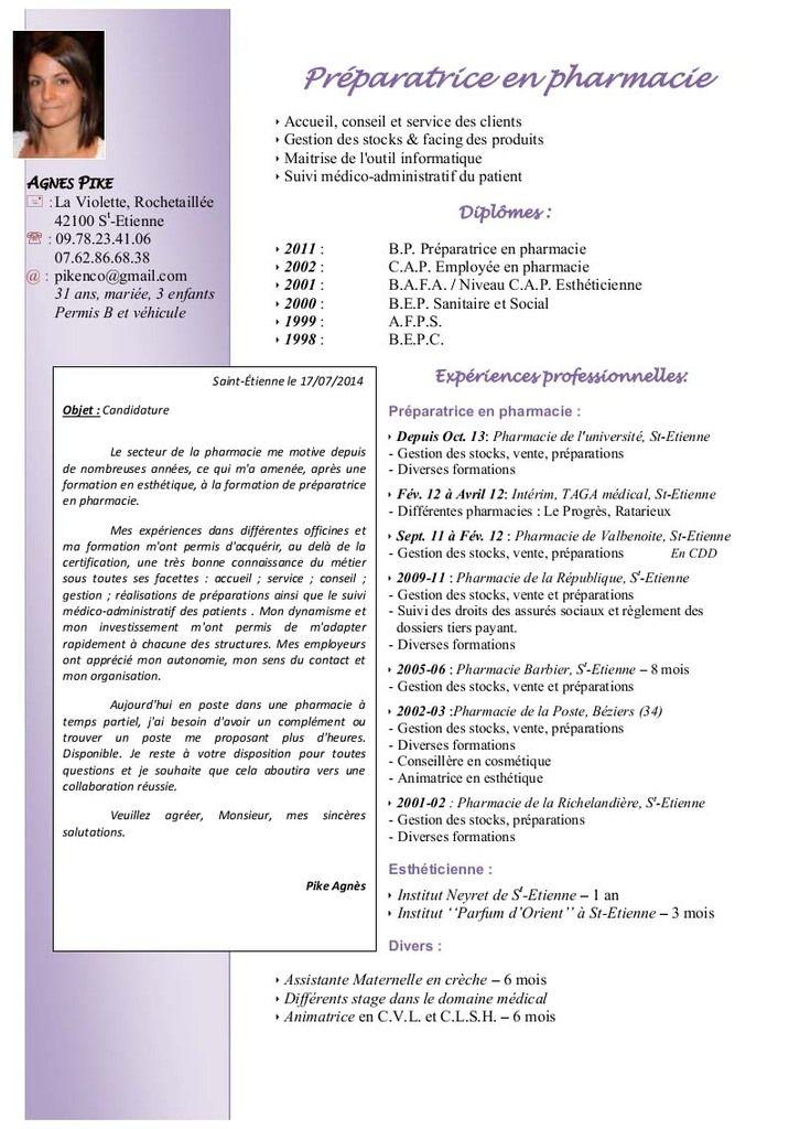 exemple de cv préparateur en pharmacie modele cv preparateur en pharmacie   CV Anonyme | cv | Pinterest exemple de cv préparateur en pharmacie