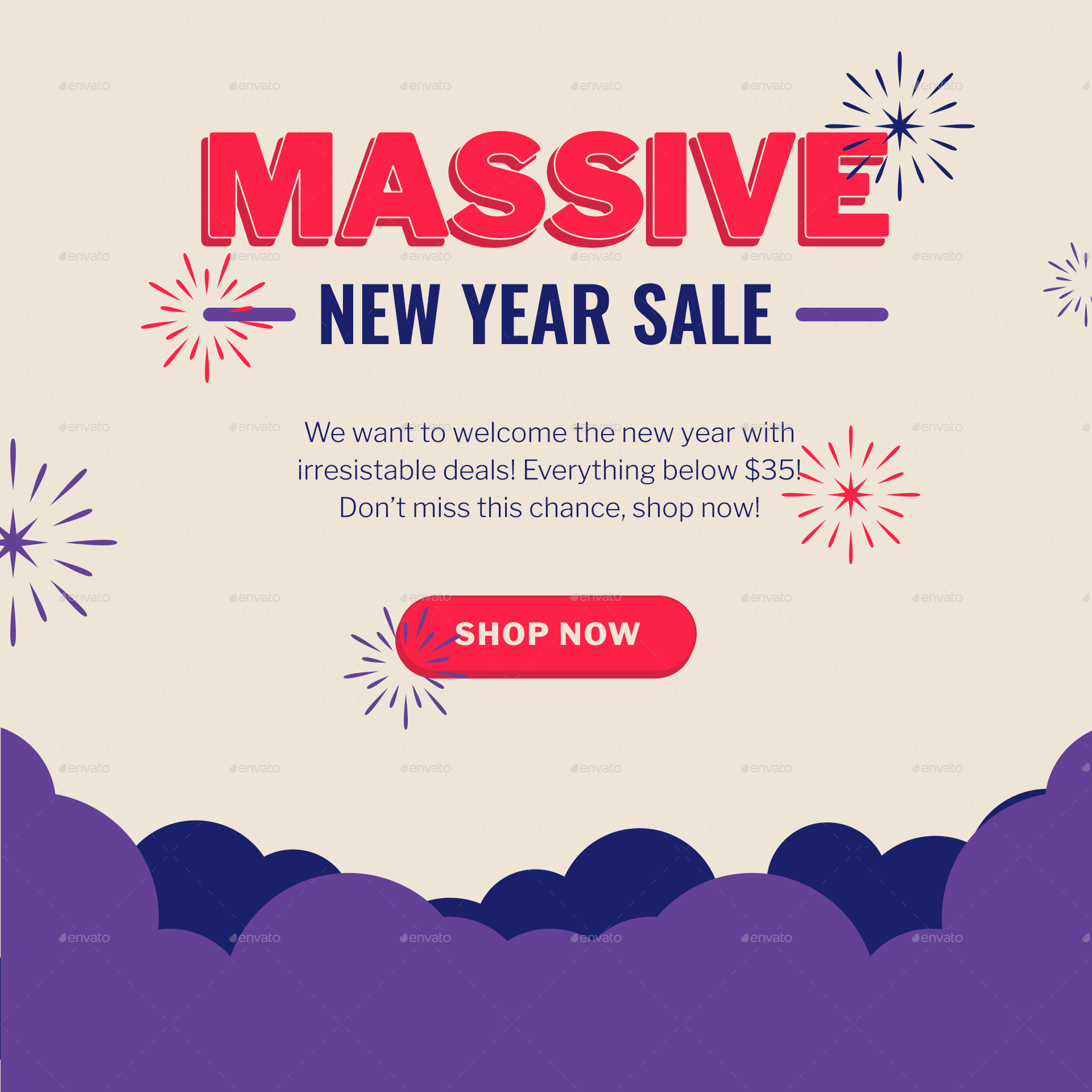 Holiday Sale Banners For Christmas Halloween New Year Flexible Facebook Instagram Pinterest Ad Sale Banner Holiday Sales Halloween News
