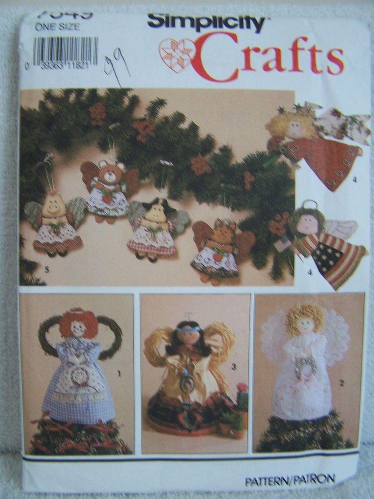 Vintage Simplicity 7549 Angel Tree Topper Garland Rag Doll Christmas ...
