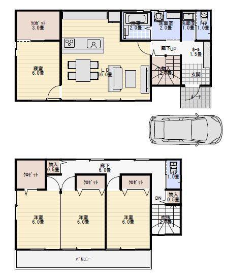 35坪4ldk全室南窓の間取り 間取り 人気 間取り 35坪 間取り図
