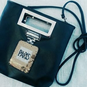 I have for sale this cute bag on Poshmark: Paris  Perfume  bottle  bag. Check it out!  Size: OS