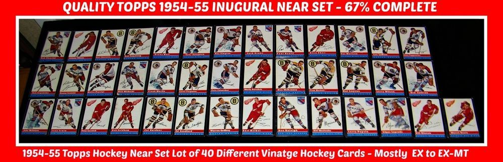1954 TOPPS SET Lot of 40 All DIff Commons NEAR SET 40/60