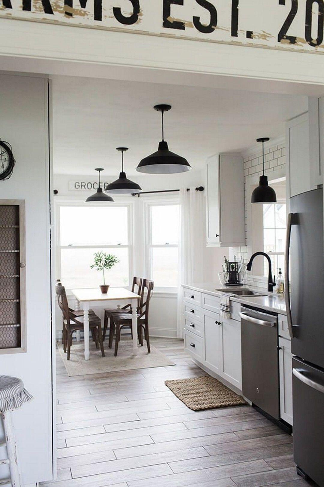 120 black and white home decor inspiration home decor kitchen modern farmhouse kitchens on farmhouse kitchen kitchen id=55330