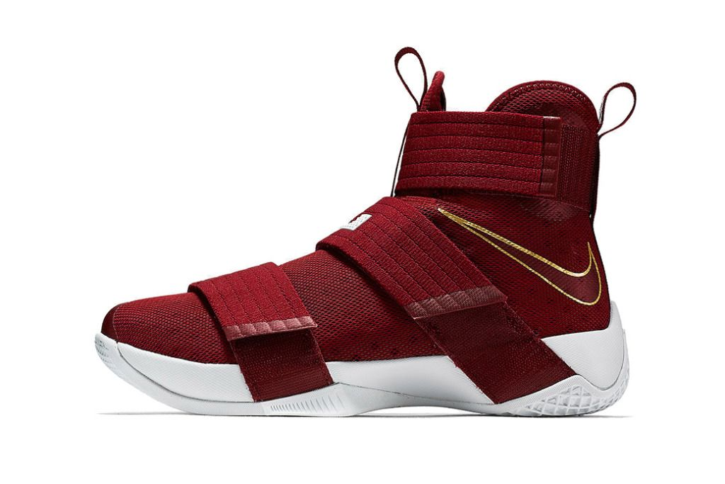 f2b89587ba8 Nike s Zoom LeBron Soldier 10 Dons a Suitable Cleveland Cavaliers ...