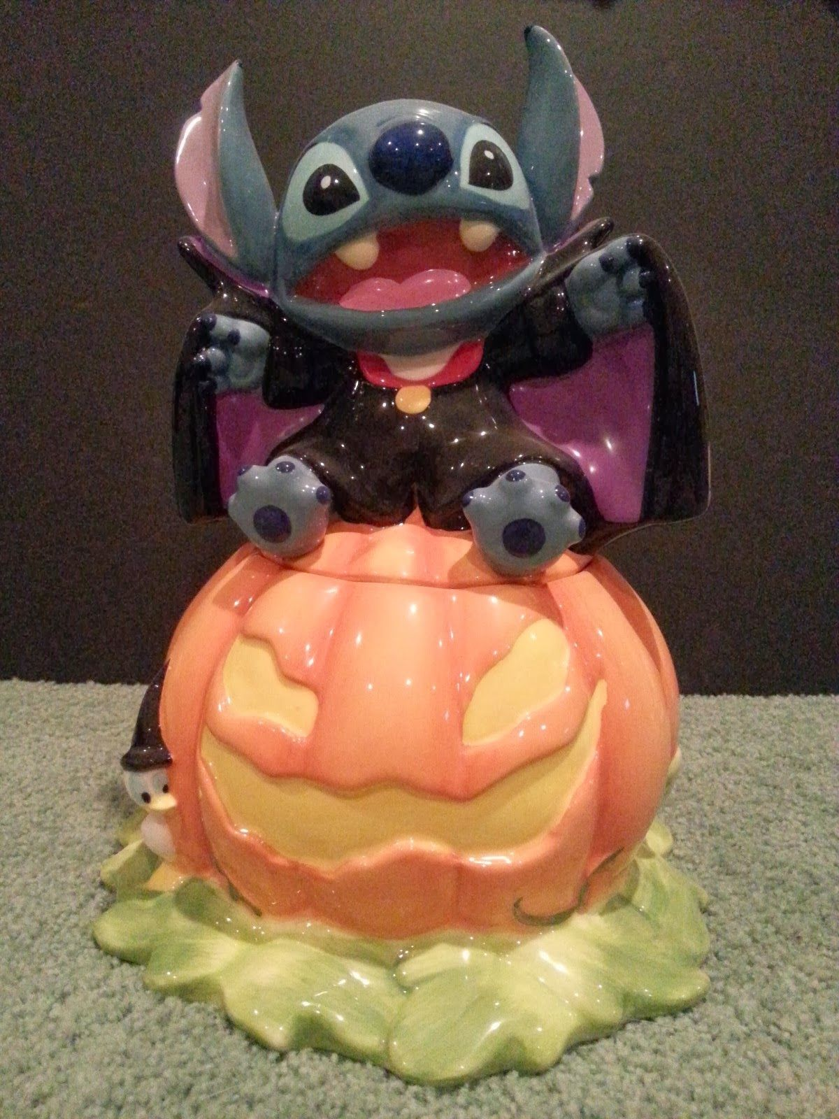 Disney Stitch Dracula Cookie Jar #stitchdisney