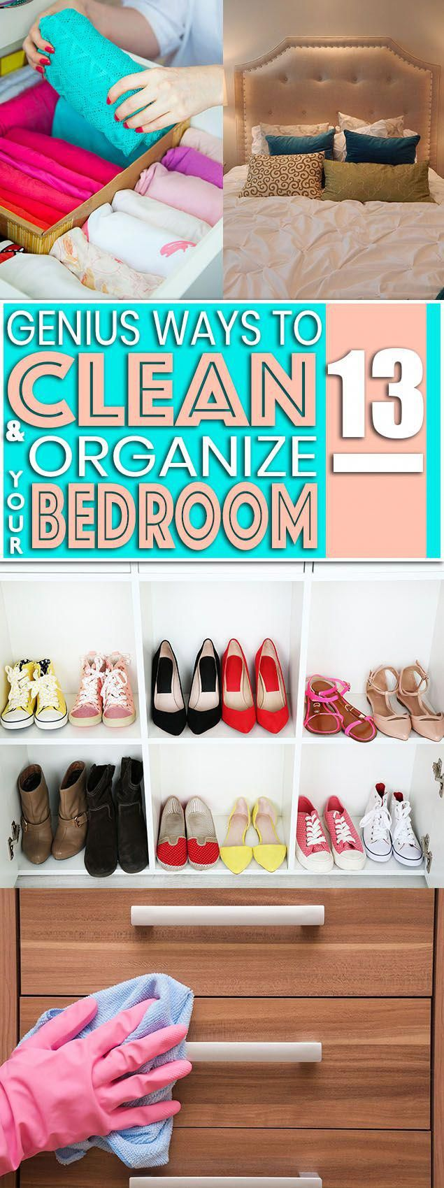 13 Convenient & Clever Ways To Clean & Organize Your Bedroom images