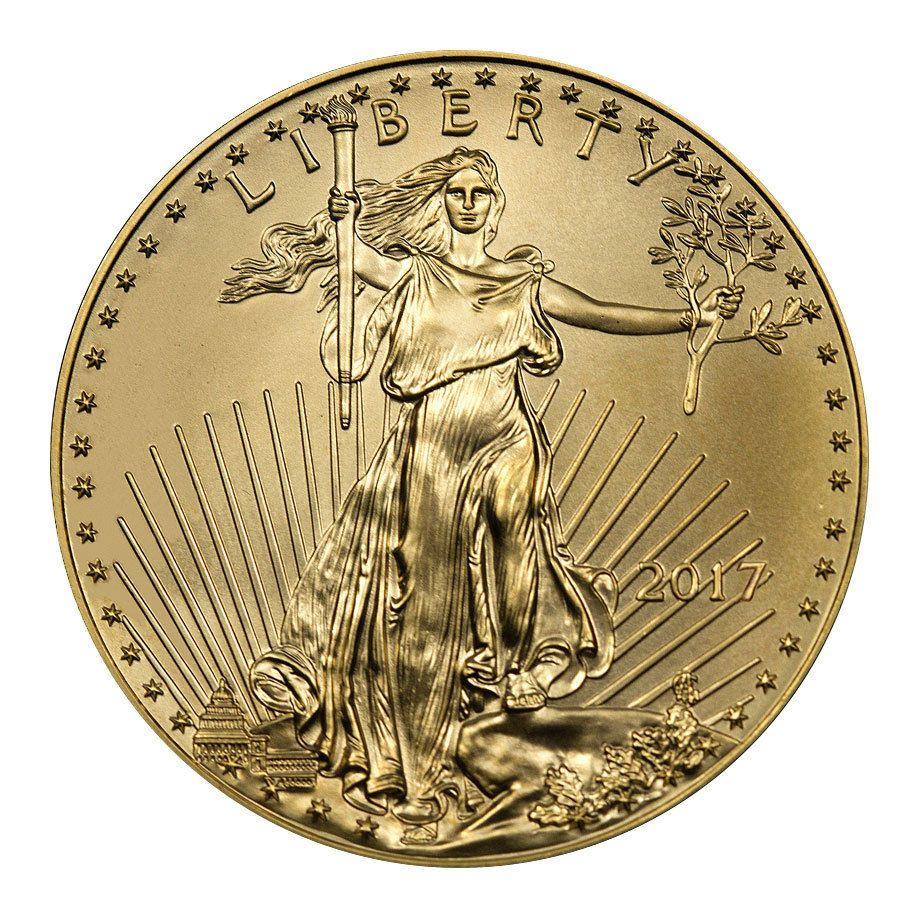 2017 5 1 10 Troy Oz American Gold Eagle Coin Sku44733 Y Tưởng Hinh Xăm Hinh Xăm Tượng