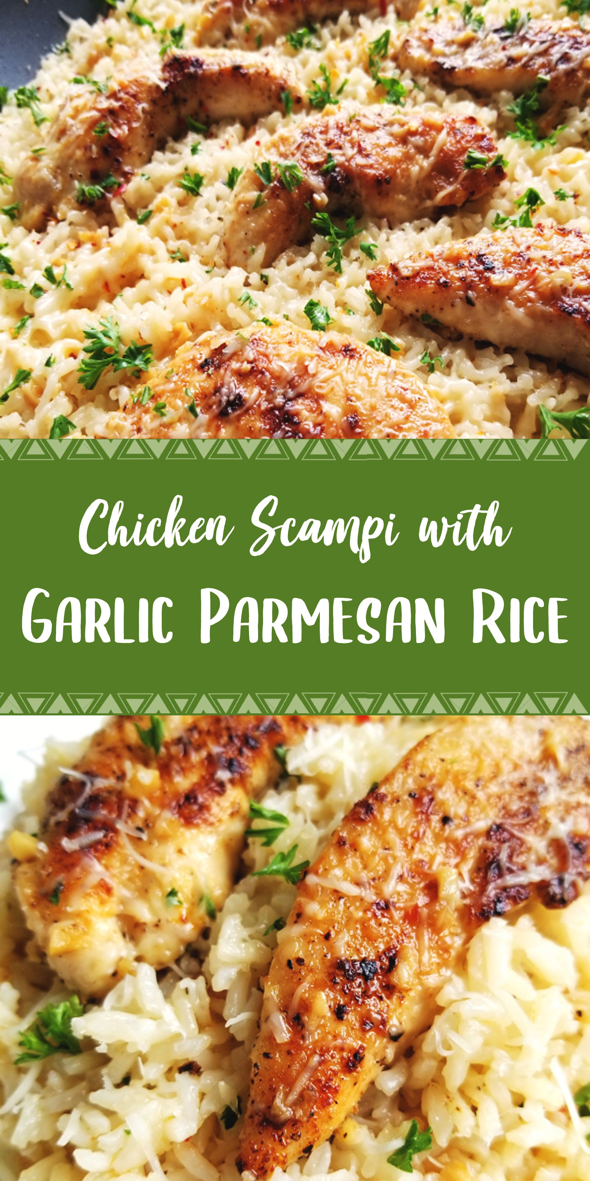Photo of Chicken Scampi with Garlic Parmesan Rice