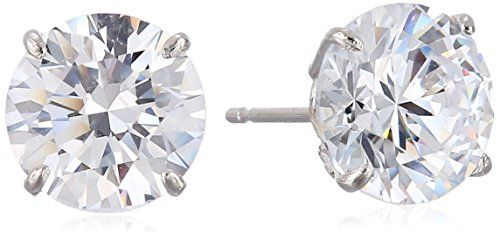 Gold Swarovski Zirconia Stud Earrings Cttw Check This Awesome Product By Going To The Link At Image