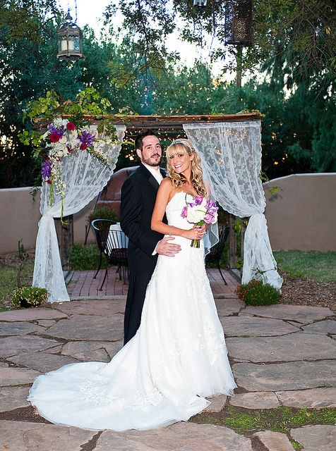 Stephani and Jesse on their Wedding Day