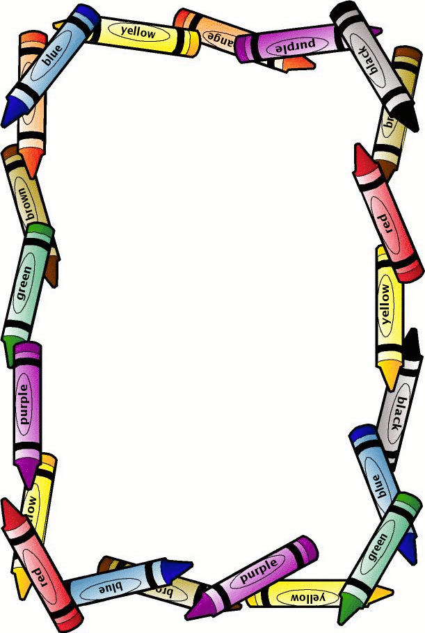 school borders crayon border free page borders spyfind rh pinterest com Free Clip Art Borders and Frames Free Printable Page Borders