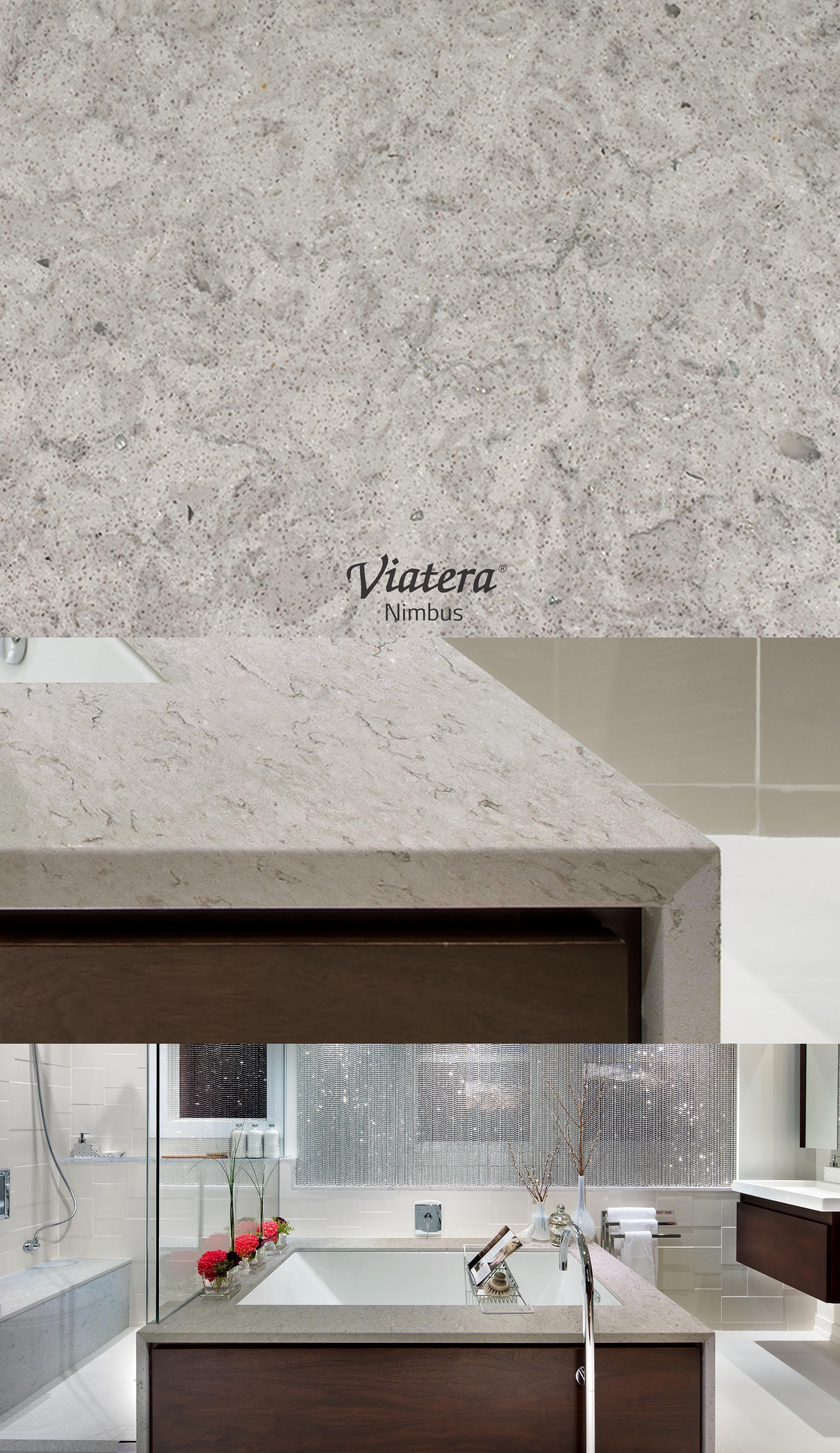 Viatera Nimbus L Quartz Countertop Countertops Contemporary