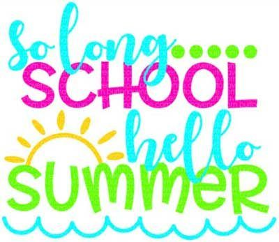 Image result for goodbye school hello summer clipart