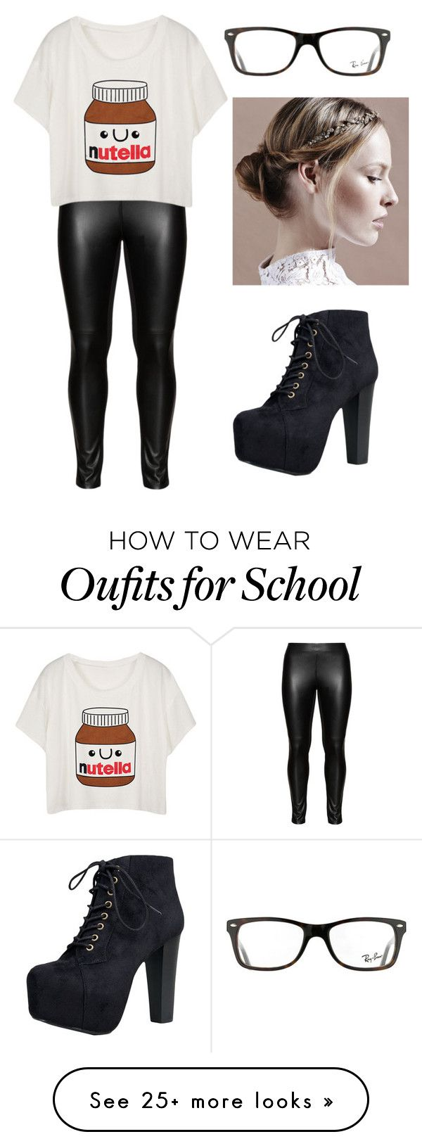 """""""when your bored at school"""" by emmyjoe222 on Polyvore featuring Studio, Ray-Ban and Speed Limit 98"""