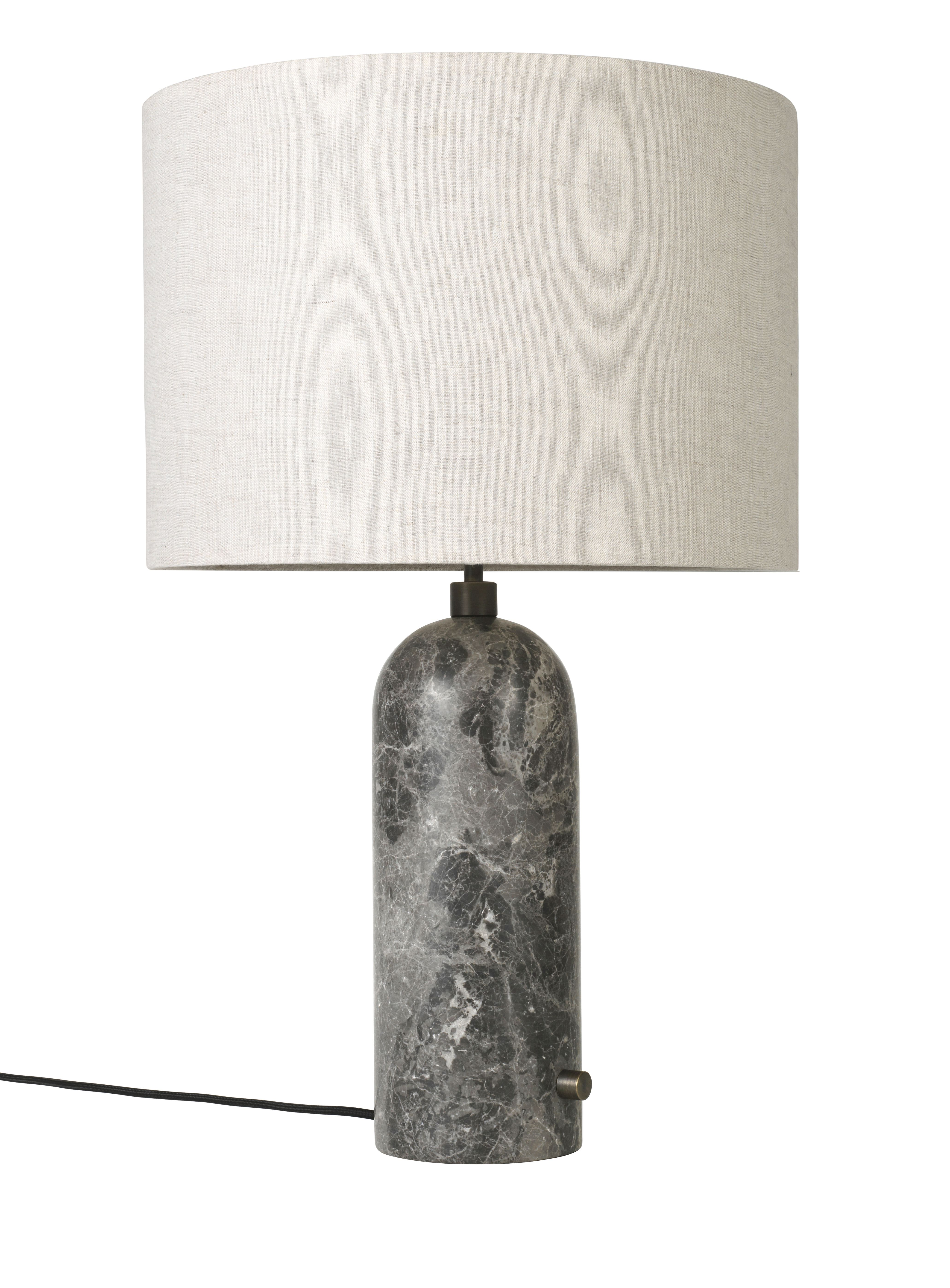Gubi Gravity Table Lamp Large In Grey Marble And Canvas With Images Grey Table Lamps Table Lamp