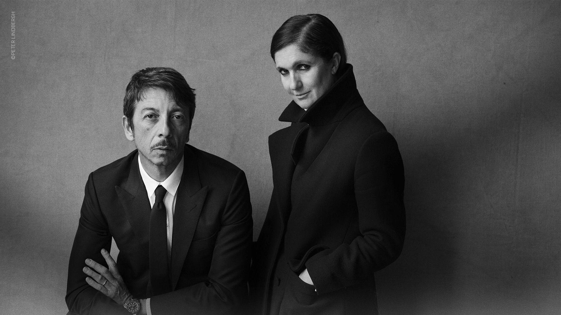 Creative Directors Maria Grazia Chiuri and Pierpoalo Piccioli proud winners of the 2015 CFDA International Award.