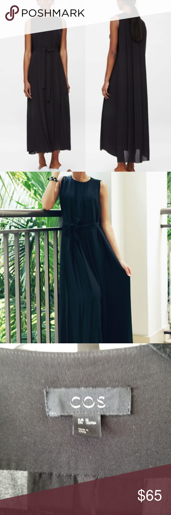 8e9fc9a0d4c Cos maxi pleated maxi dress Cos maxi pleated dress comes without belt. no  belt loops labeled a size 32 17.5 inches underarm to underarm 52 inches  long from ...