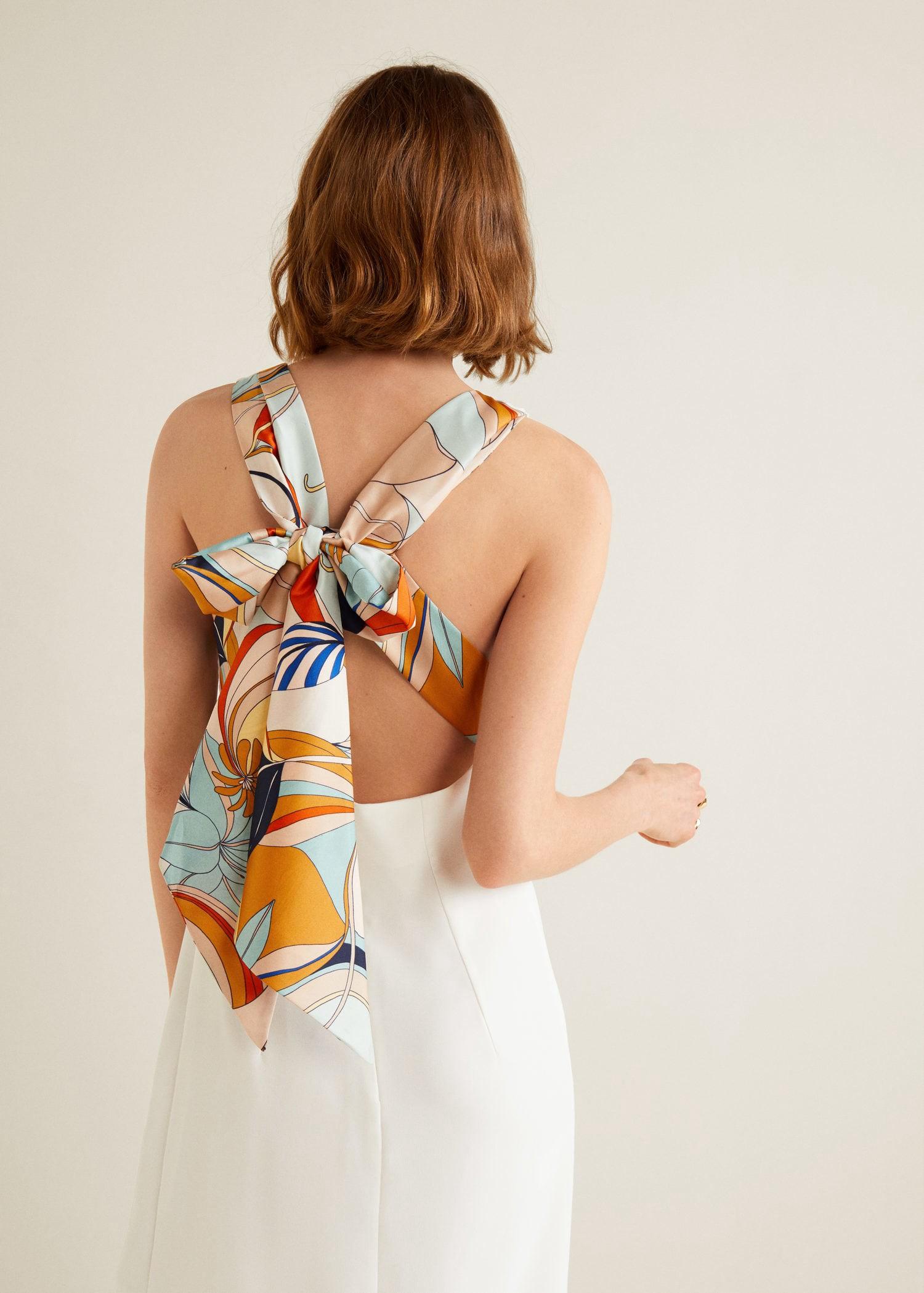 Print bow dress by Mango in 2019  85df3c396