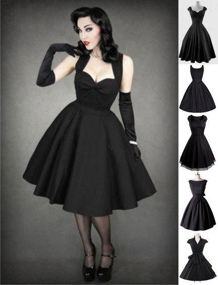 Vestido Pin Up Rockabilly Vintage Retrô (5 modelos) - Dark Mirror ...