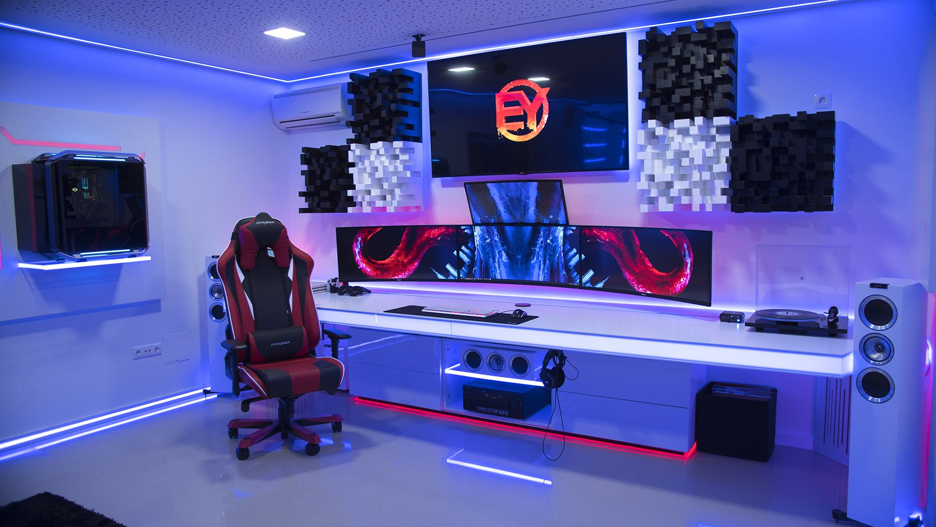 Sala Set Set Up Best Setup Gaming Setup Gaming In 2019 Pinterest