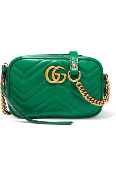 05a13d858 Gucci - Gg Marmont Camera Mini Quilted Leather Shoulder Bag - Emerald
