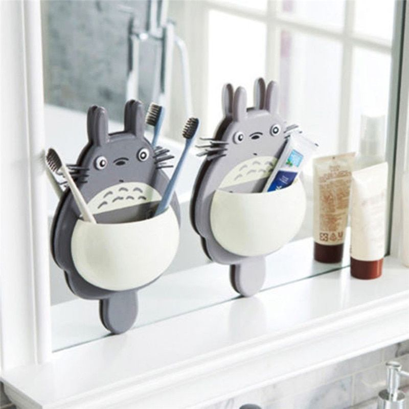 Home Toothbrush Wall Mounted Holder Sucker Bathroom Suction Cup Organizer