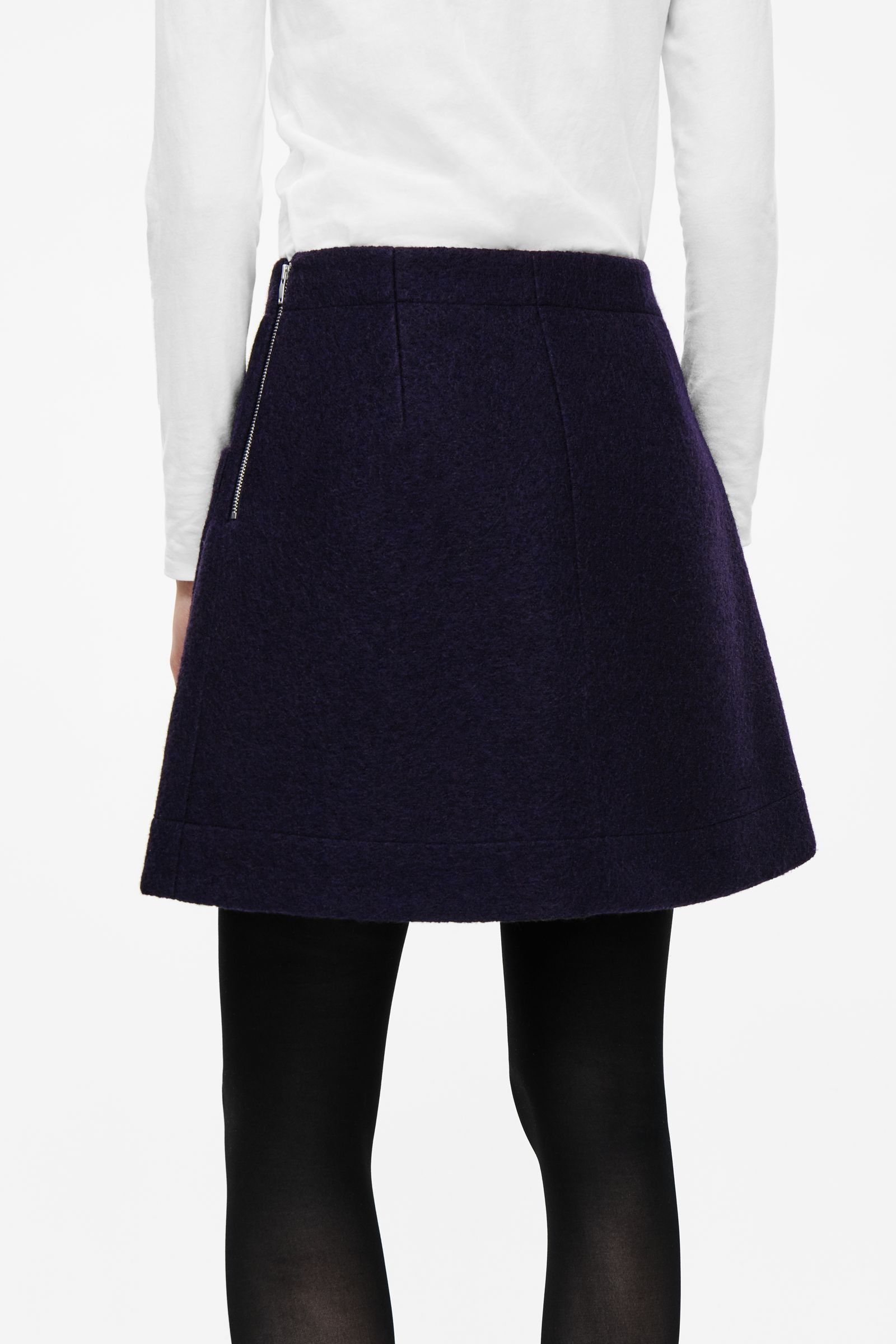 6424932a99 COS image 3 of A-line wool skirt in Midnight Blue | i'm a big girl ...
