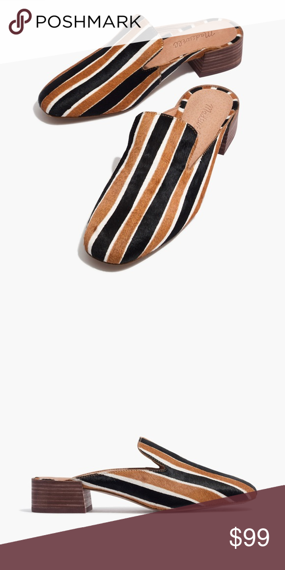 6f69414f0d2 NWB Madewell The Willa Loafer Mule in Striped Calf NWB Madewell The Willa  Loafer Mule in